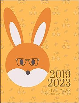 2019-2023 Five Year Planner Rabbit Bunny Goals Monthly ...