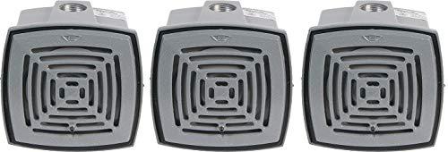 Edwards Signaling 876-N5 Vibrating Horn, Volume Adjustable, 113 103 db, 120V AC, Gray 3- Pack