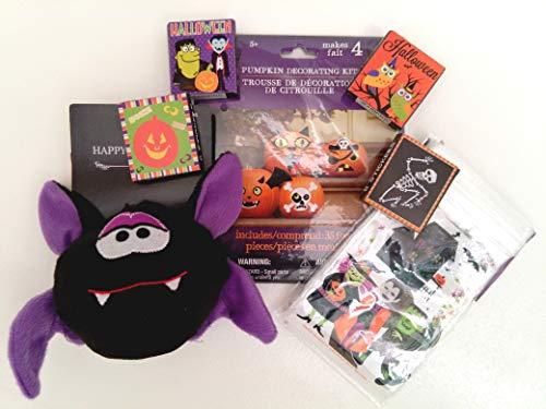 74 Pieces Halloween Pack Including Pumpkin Decorating Kit,