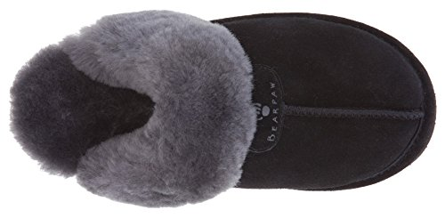 BEARPAW Women's Slide Black Slipper Grey Ii Loki CvqC8wp
