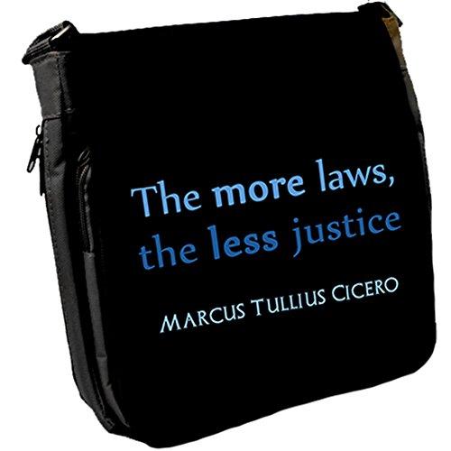 The more laws, - Marcus Tullius Cicero Unisex Umhängetasche