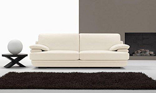 Sofa modern und zeitgenössisch Mykonos, Leder spessorata Erste Blume Divano 2 posti con 2 cuscini - 200x84x90cm Pelle Spessorata Primo Fiore 7007