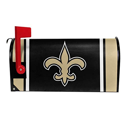Gdcover Team Design New Orleans Saints Garden Magnetic Mailbox Cover for Outdoor Decor ()