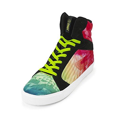 Zumba Women's Street Groove Walking Shoe - Coral Multi, Y...
