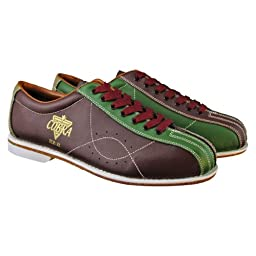 Bowlerstore Mens TCR 3L Cobra Rental Bowling Shoes Laces (5 1/2 M US, Brown/Green)