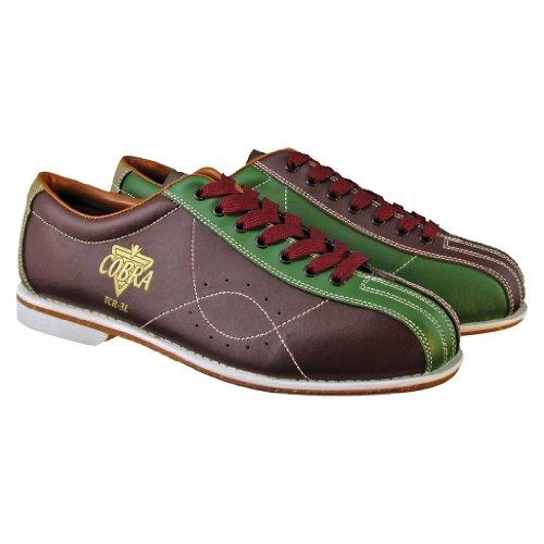 Bowlerstore Mens TCR 3L Cobra Rental Bowling Shoes Laces (12 M US, (Leather Rental Bowling Shoes)