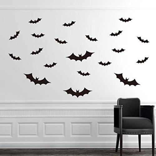 The Purge Costumes Diy (Halloween,Baomabao PVC Bat Wall Sticker Decal Home Halloween Decoration DIY)