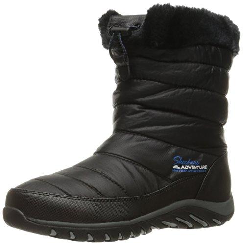Skechers Women's Descender Winter Boot - Black - 10 B(M) US