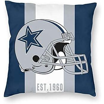 Dalean Custom Dallas Cowboys Football Team Throw Square Pillowcases Soft Pillowslips Pillow Cover Home Design Cushion with Hidden Zipper for Sofa Office Bedroom 16