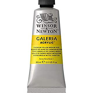 Winsor & Newton Galeria Cadmium Yellow Medium Hue, 60mL Acrylic Paint, 60-ml Tube, 2 Fl Oz