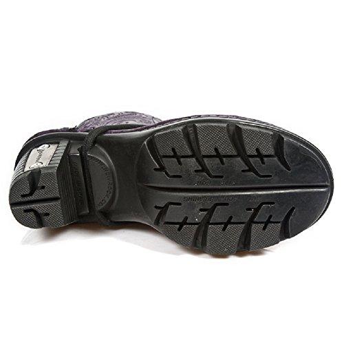 New Rock - botas estilo motero hombre negro
