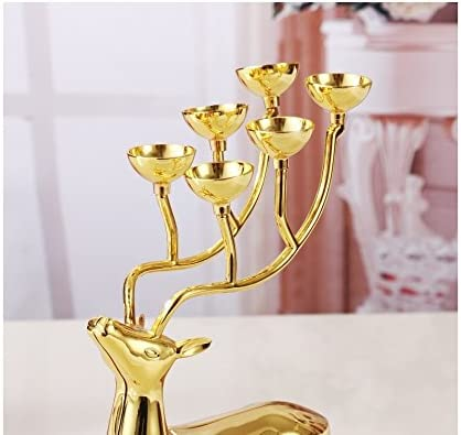 Luxurious Deer Candle Holders Stainless Steel Candle Holder Candlestick Wedding Candelabra Decoration 1