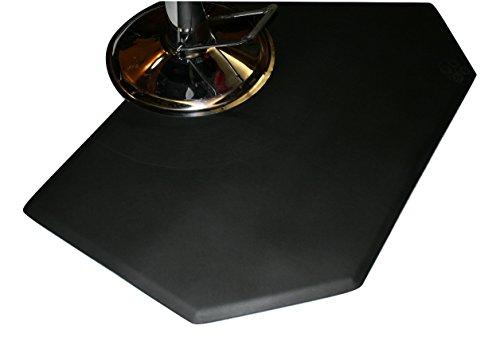 Rhino Mats CCL35SH Comfort Craft Lite Salon Hexagon Mat, 3' Width x 5' Length x 1/2'' Thickness, Black by Rhino Mats (Image #1)