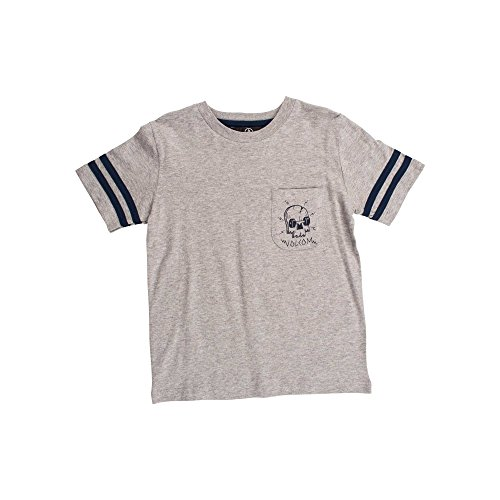 Toddler Crusher (Volcom Little Boys' Toddler Crusher Crew Short Sleeve Shirt Youth, Grey,)