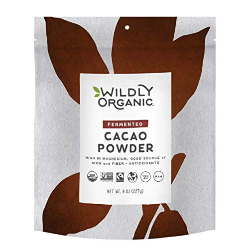 Wildly Organic Fair Trade Certified Organic Cacao - The Best Tasting & Smoothest Cacao Powder From Premium Beans, Raw - 8 Ounces