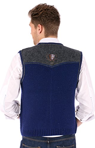 German knitted waistcoat Ramsau SW denimblue by Spieth & Wensky (Image #2)