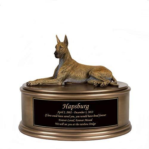 Perfect Memorials Custom Engraved Great Dane Figurine Cremation Urn ()