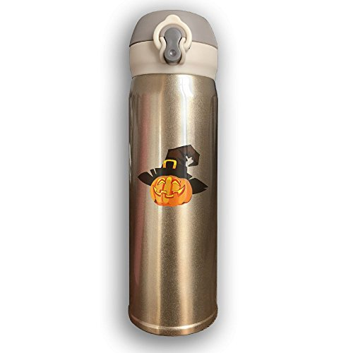 Halloween Pumpkin Witch Stainless Steel Insulated Vacuum Coffee Cup Double Wall Water Bottle (Reformation Day Halloween History)
