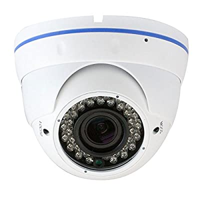 GW Security H.265 POE IP Security Camera–5mp HD IP 1920p Dome Camera - IP66 Weatherproof – Wide Angle with 2.8-12mm Varifocal Lens from GW Security