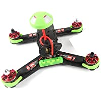 Qwinout 210GT 210mm Mini Quadcopter FPV Racing Drone PNP Combo Kit ARF with SP F3 Flight Control / CCD Camera /Mushroom Antenna /400mW VTX ( No Battery & Remote Controller) - Green