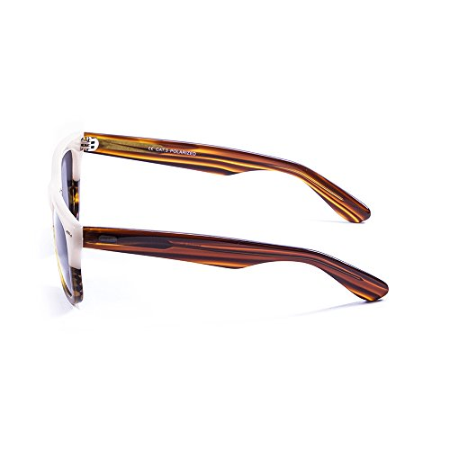 Ocean Sunglasses Lowers Lunettes de soleil Light Brown/White Up/Brown Lens GAmUTps9E