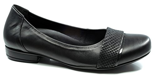 Gabor Shoes Comfort 32.631–Bailarinas–Guantes en tallas especiales negro
