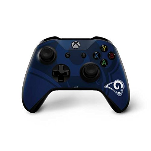 Skinit NFL Los Angeles Rams Xbox One X Controller Skin - Los Angeles Rams Double Vision Design - Ultra Thin, Lightweight Vinyl Decal Protection by Skinit