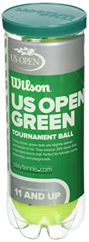 Wilson US Open Tournament Tennis Ball, Green (Green Wilson)