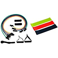 Elástico Extensor Tubing Kit com 11 Peças + Kit Mini Band Bella Net