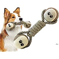 CHOUREN Woven Dumbbell Rope Dog Pet Chew Toys Dog Clean Teeth Training Tool
