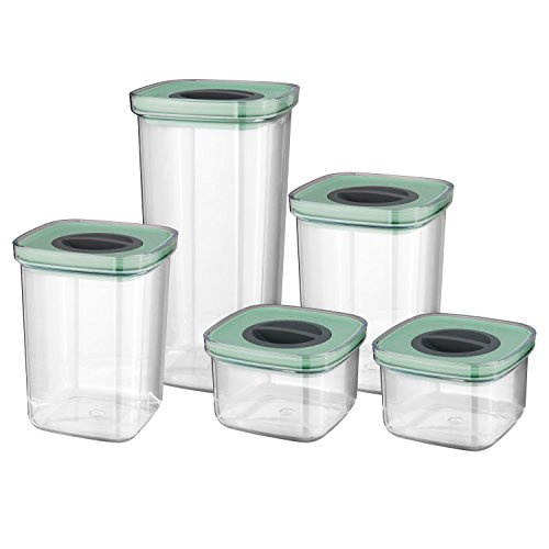 - BergHOFF Leo Collection   5-Piece Smart Seal Food Containers Set   Leakproof, Stackable, BPA Free, Dishwasher Safe