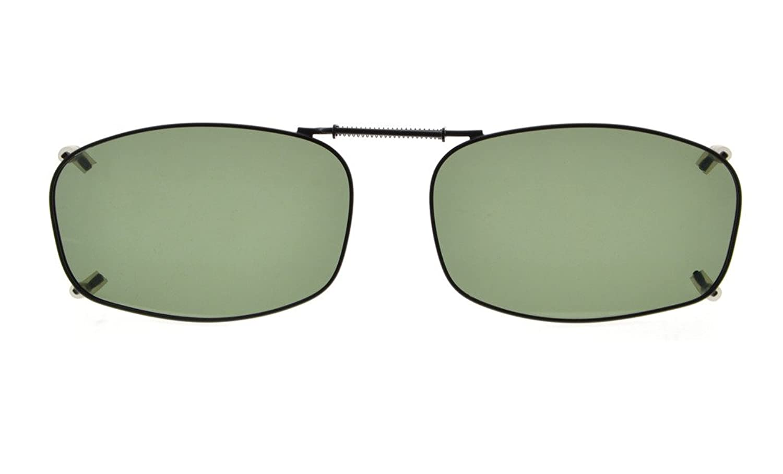 Eyekepper Metallrahmen Felge polarisierte Linse Clip auf Sonnenbrille 52x36MM Braunes Linse NoNX6i8I