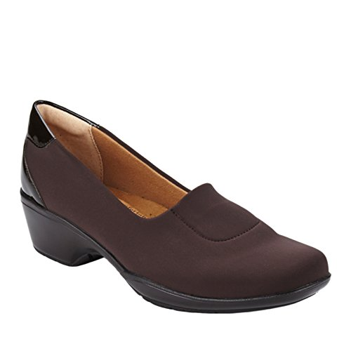 softspots Women's Marnie Slip-On,Dark Brown Stretch Lycra,US 8 W -