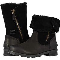 Sorel Womens Emelie Foldover Rain Boot, Black, Size 8.5