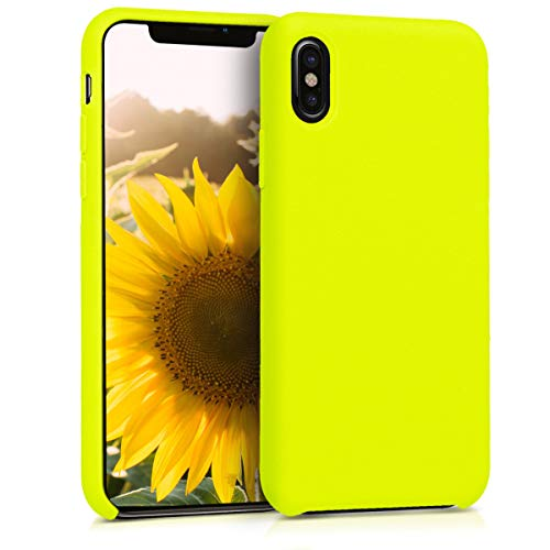 (kwmobile TPU Silicone Case for Apple iPhone X - Soft Flexible Rubber Protective Cover - Lemon Yellow)