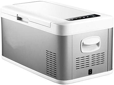 ポータブル冷蔵庫 18リットルのポータブルカーミニ冷蔵庫シーフードや車のための果物とホームコンパクト冷蔵庫 車載家庭両用 (色 : Silver, Size : 58X33X29CM)