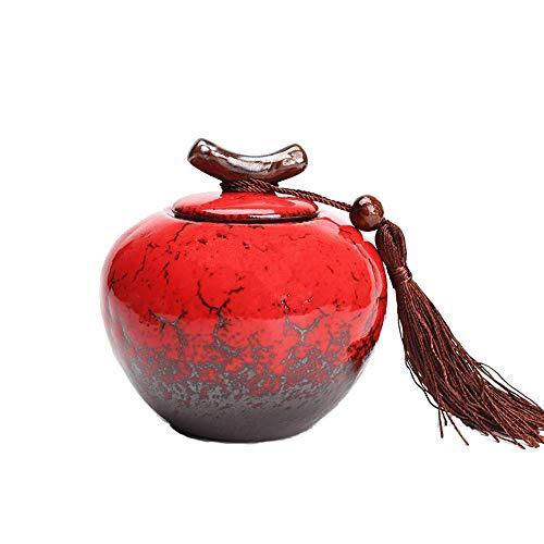 MMJ Cilindro de cremación de cerámica - para Mascotas y Ceniza Humana - Tres tamaños - para 20 35 50 Pulgadas cúbicas de...