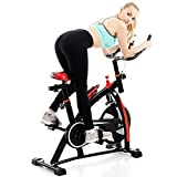 CMrtew Home Spinning Bicycle Ultra-Quiet Indoor Exercise Bike 250kg Load Indoor Cycling Bikes Sports Equipment Pedal Bicycle (Shipping from USA)