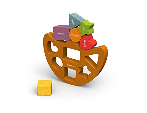 BeginAgain Balance Boat Shapes and Colors - Shapes and Spatial Awareness - For Kids 2 and Up