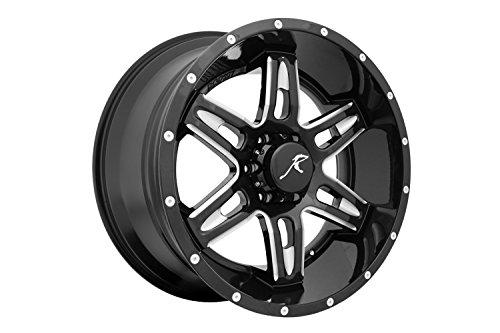 Raptor 505B-209-6135-00 505 Series Raptor Wheel Size 20in.x9in. Bolt 6x135mm Offset 0 6 Spoke Gloss Black CNC Milled Window/Rivets 505 Series Raptor Wheel