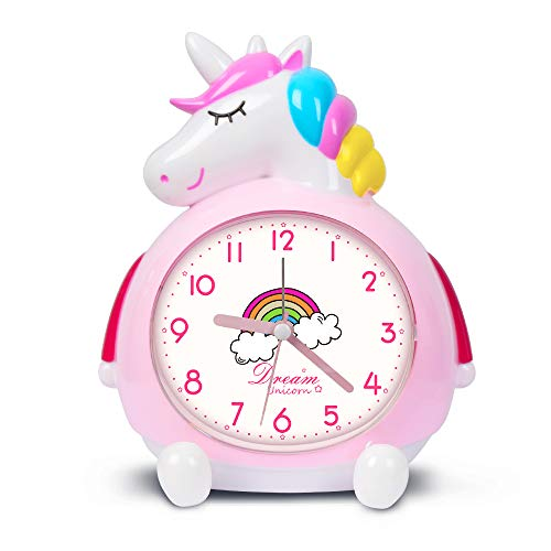 KOROTUS COLLECTION Unicorn Alarm Clock for Kids Wake Up Night with Loud Music Alarm, Ideal Gifts for Kids Party Supplies Bedroom Decoration