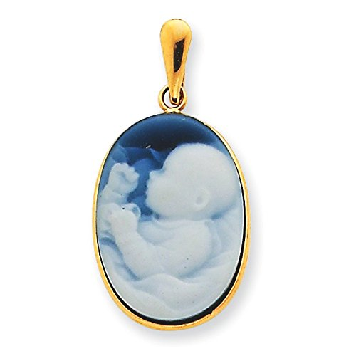 NEW ARRIVAL II Agate Pendentif Camée Or 14 ct