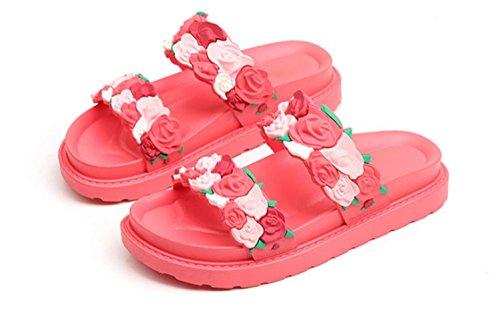3D Rosas 011 KUKI para Zapatillas de de Diseño Playa Mujer wzqXR8xOz