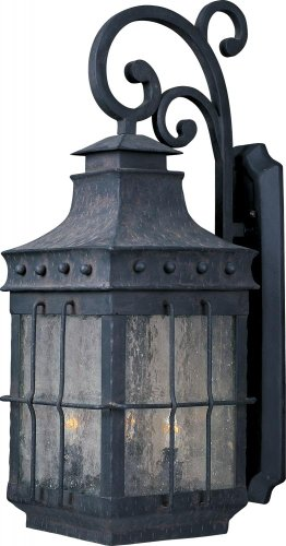 Maxim 30085CDCF, Nantucket Outdoor Wall Sconce Lighting, 240 Total Watts, Country Forge Review