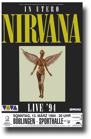 Nirvana Poster - 11 x 17 Promo for a Concert on the