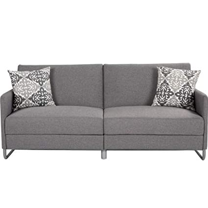Amazon.com: Gray Modern Sofa Bed Futon Convertible Recliner Couch ...