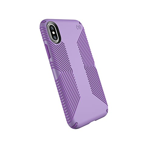 Speck Products Presidio Grip Case for iPhone XS/iPhone X, Aster Purple/Heliotrope Purple ()