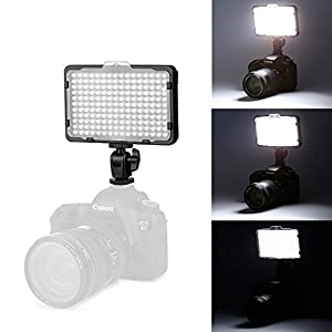 Tolifo PT-176S 176 Led Video Light Panel Ultra Bright Dimmable Video Light with 3200K/5600K Color Temperature for Canon Nikon and DSLR Camera