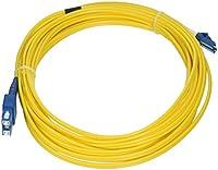 eDragon ED86839 Fiber Optic Cable, LC/SC, Singlemode, Duplex, 9/125, 7m, 2 Pack