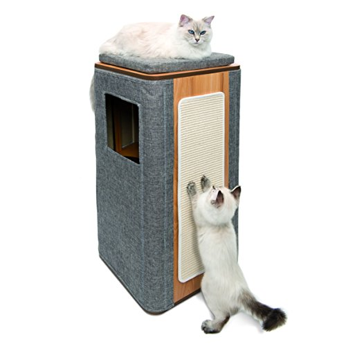 Vesper 52094 Cubo Tower (Stone) Cat Tree